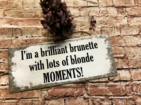 I`m a brilliant brunette with lots of blonds Moments
